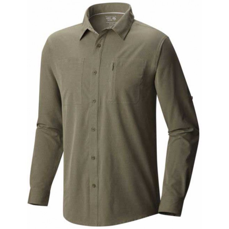 Chemise de randonnée homme Air Tech LS Shirt vert kaki Mountain Hardwear