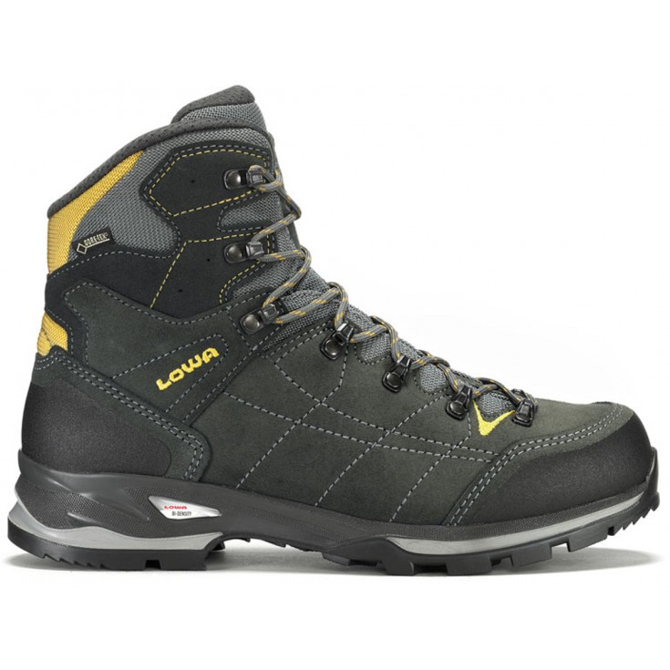 chaussure de randonn e gore tex homme vantage gtx mid anthracite jaune lowa montania sport. Black Bedroom Furniture Sets. Home Design Ideas