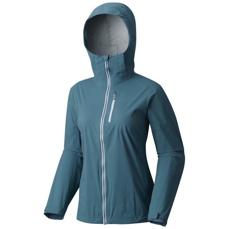 veste imperm able femme 2 5l stretch thundershadow jacket cloudburst mountain hardwear. Black Bedroom Furniture Sets. Home Design Ideas