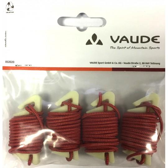 Lot de 4 GUYLINE PRO rouge Vaude