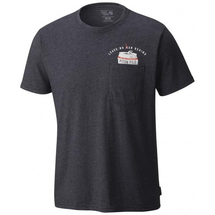 Tee-shirt homme NO CAN LEFT BEHIND heather black Mountain Hardwear