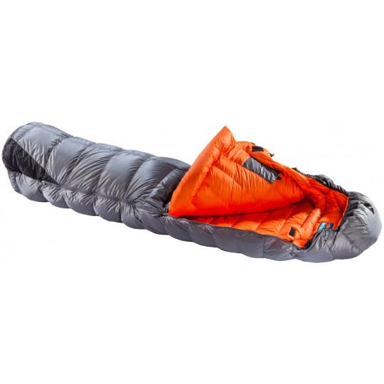 b9f97fcca427 Sac de couchage plume CHILL OUT 850 gris-orange M Valandre