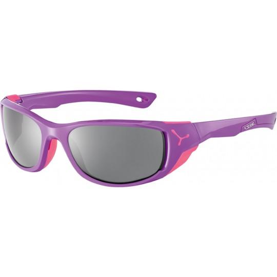 Lunettes de soleil femme JORASSES M Shiny Purple Pink 1500 Grey PC Cébé