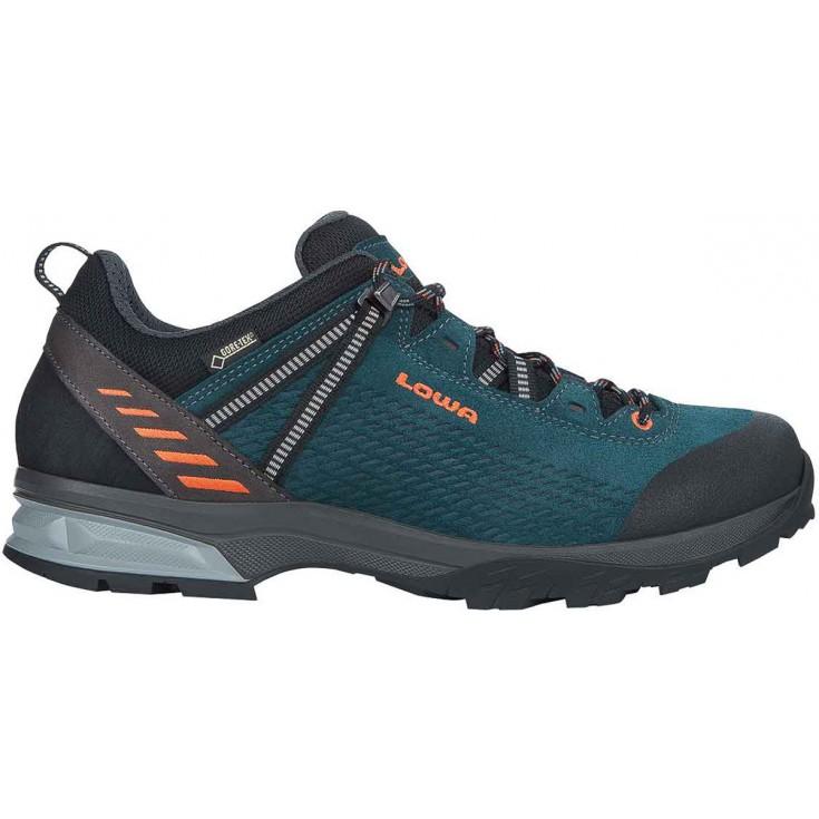 Chaussure de randonnée basse cuir homme Phoenix LL Low anthracite-kiwi Lowa