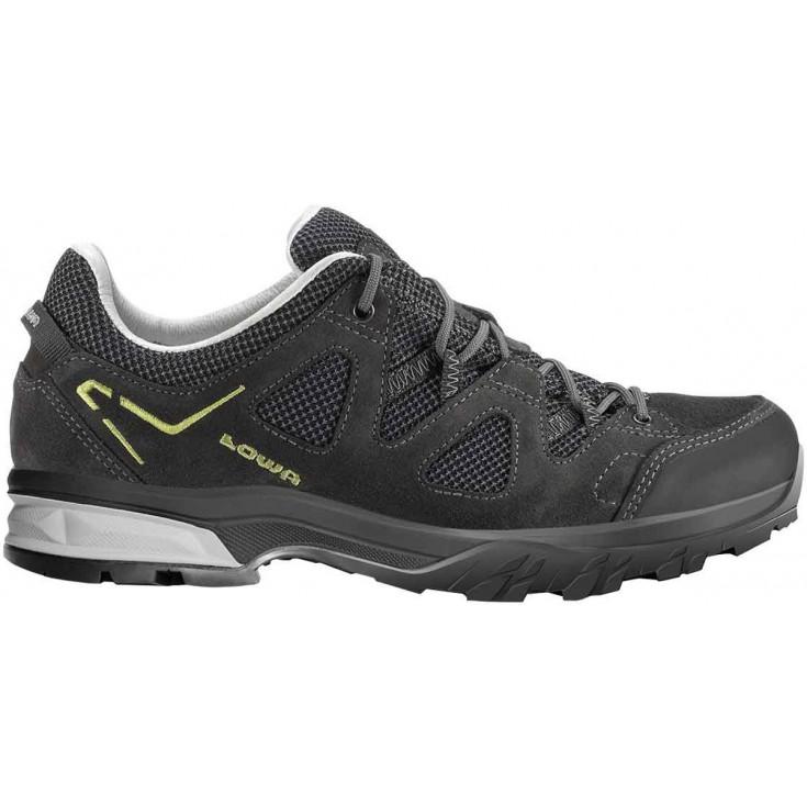 10e9214b819 Chaussure de randonnée basse cuir homme Phoenix LL Low anthracite-kiwi Lowa