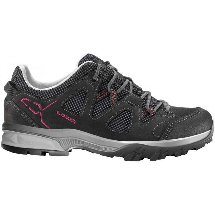 8590c365a7ce Chaussure de randonnée basse cuir femme Phoenix LL Low Ws anthracite-berry  Lowa