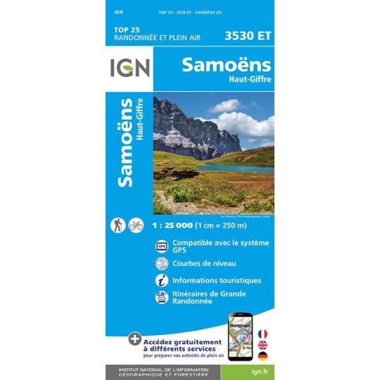 Carte TOP 25 IGN 3530 ET SAMOENS
