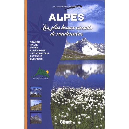 Livre ALPES Les plus beaux circuits de randonnées - Editions Glénat