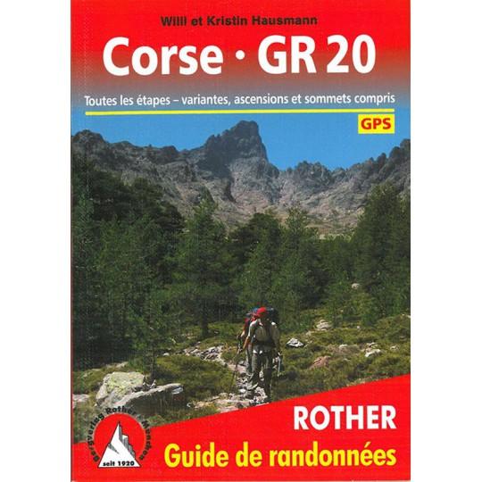 Livre Guide de Randonnée CORSE GR20 -Hausmann- Editions Rother