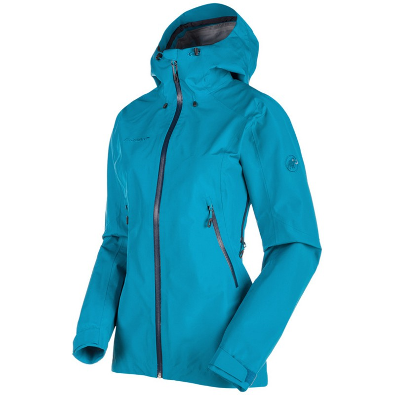 veste gore tex femme ridge hs hooded jacket aqua mammut montania sport. Black Bedroom Furniture Sets. Home Design Ideas