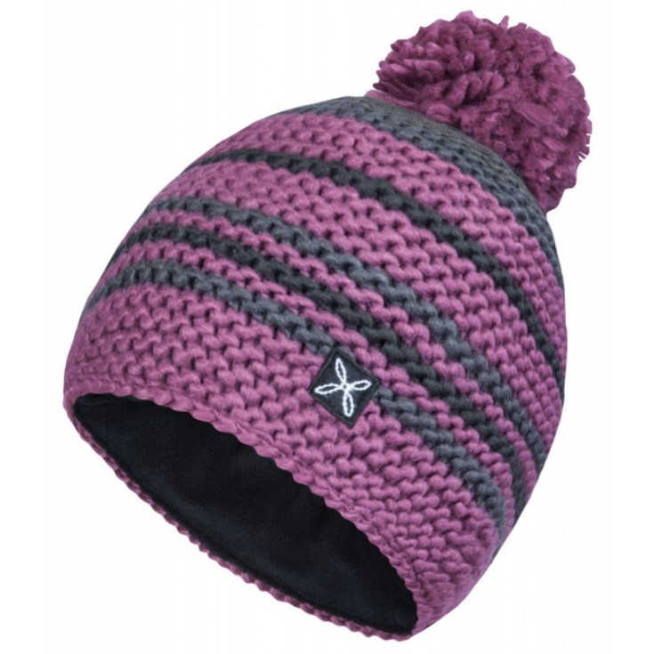 Bonnet KNIT CAP fuchsia-gris Montura