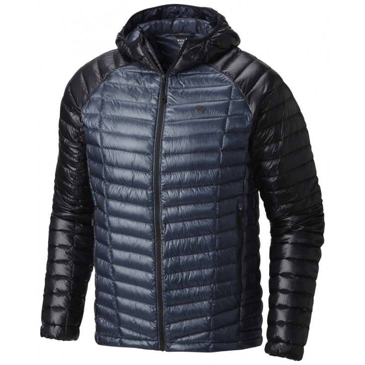 Doudoune à capuche homme GHOST WHISPERER HOODED DOWN Jacket Blue Mountain Hardwear