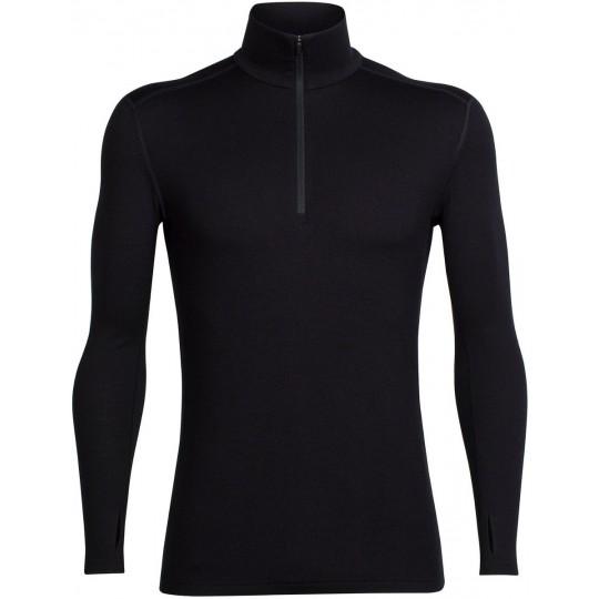 c41d2444b1c Tee-shirt laine Merino homme 260 TechTop LS HZ 1 4 zip Noir Icebreaker