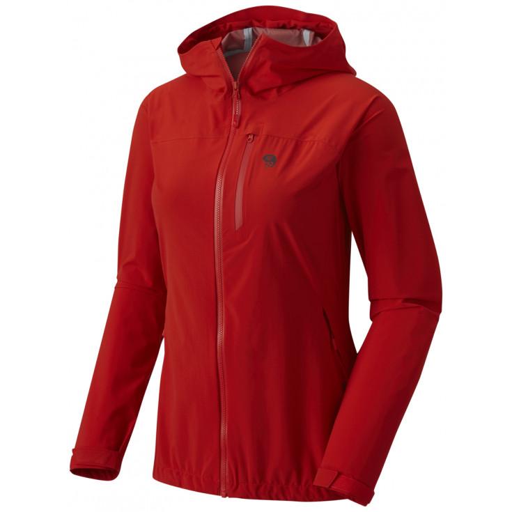 Veste imperméable femme 2.5L Stretch Ozonic Jacket Woman Fiery Red Mountain Hardwear