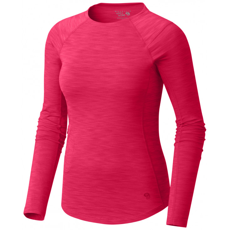 Tee-shirt respirant femme MIGHTY STRIPE LS Berry Mountain Hardwear