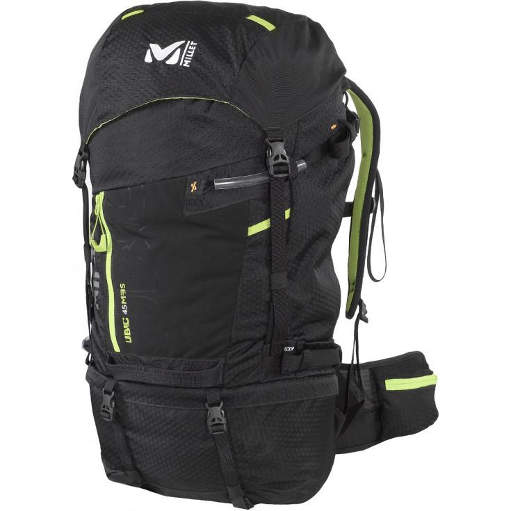 sac dos de randonn e ubic 45 mbs noir millet montania sport. Black Bedroom Furniture Sets. Home Design Ideas