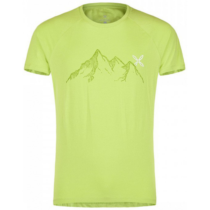 tee shirt homme mountain t shirt 40 vert montura. Black Bedroom Furniture Sets. Home Design Ideas