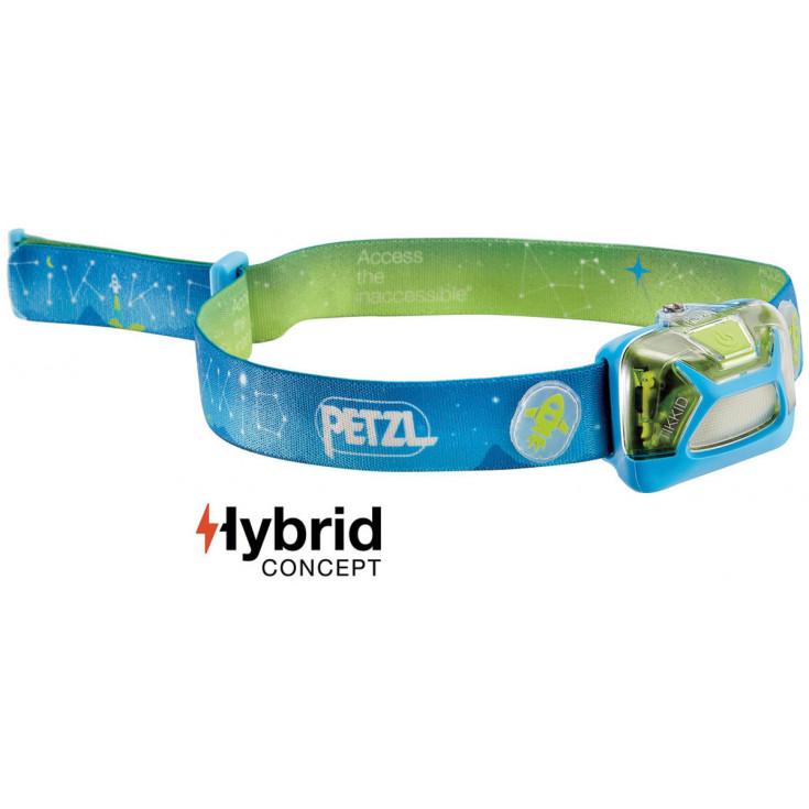 Lampe frontale enfant TIKKID bleu 20 lumens Petzl
