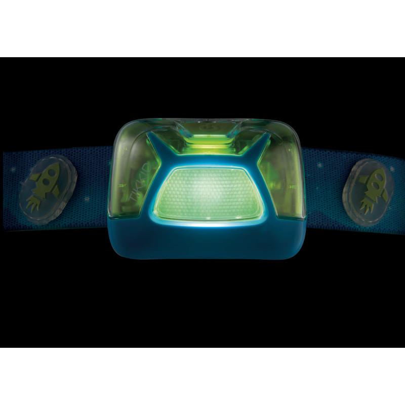 lampe frontale enfant tikkid bleu 20 lumens petzl montania sport. Black Bedroom Furniture Sets. Home Design Ideas