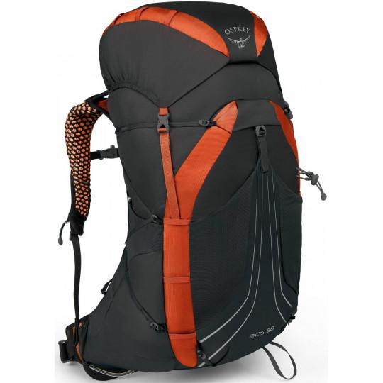 nouveau produit f8e8a 7f748 Sac à dos EXOS 58 Blaze Black Osprey Packs S19