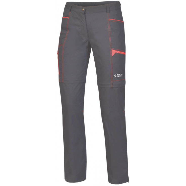 Pantalon de randonnée convertible femme BEAM ZIP OFF PLUS LADY anthracite Directalpine