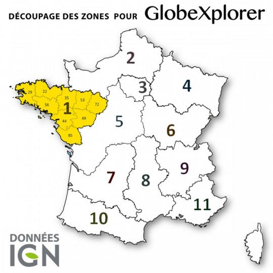 Cartes numériques IGN ZONE 1 GlobeXplorer