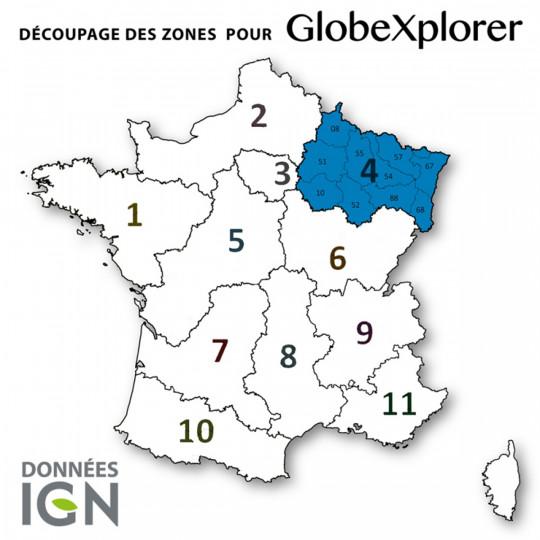 Cartes numériques IGN ZONE 4 GlobeXplorer