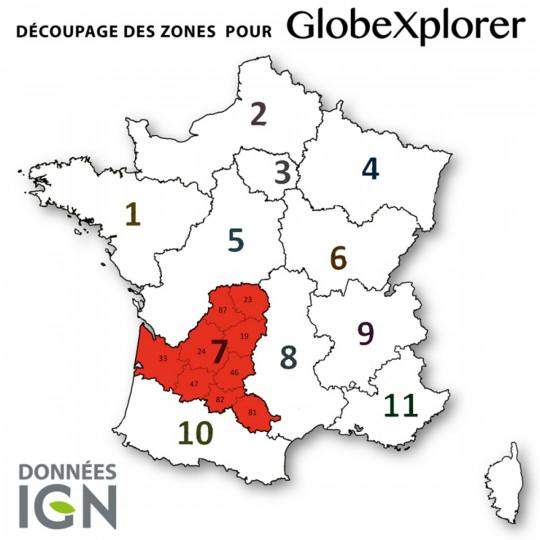 Cartes numériques IGN ZONE 7 GlobeXplorer