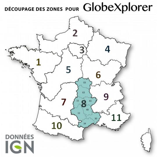 Cartes numériques IGN ZONE 8 GlobeXplorer