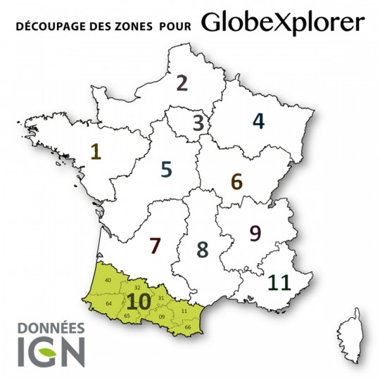 Cartes numériques IGN ZONE 10 GlobeXplorer