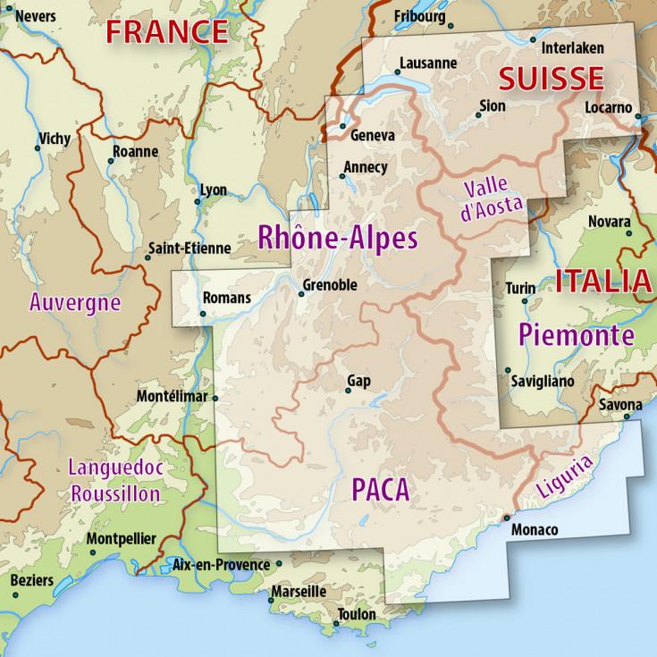 Carte Italie France.Cartes Numeriques Ign Pack Alpes France Suisse Italie Globexplorer