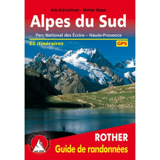 Livre Guide de Randonnée ALPES DU SUD - 50 itinéraires - Editions Rother