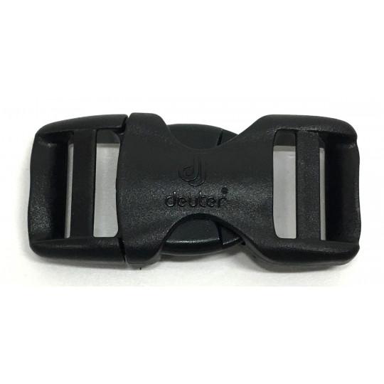 Boucle sac à dos 2 double 20mm noire Deuter
