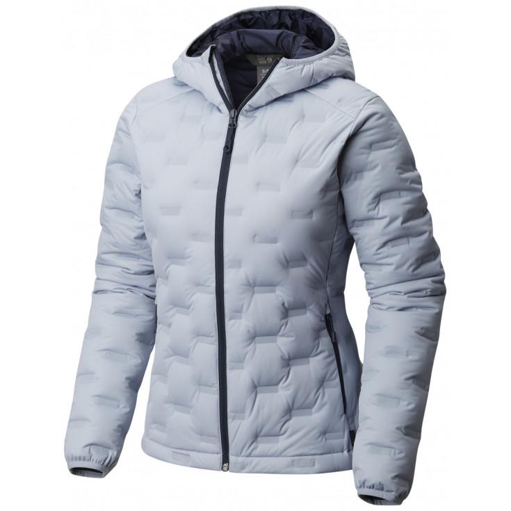Doudoune à capuche femme StretchDown DS Hooded Jacket W Artic Blue Mountain Hardwear