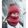 Bonnet à pompon KNITTED & POLAR HAT Neper Pink Buff