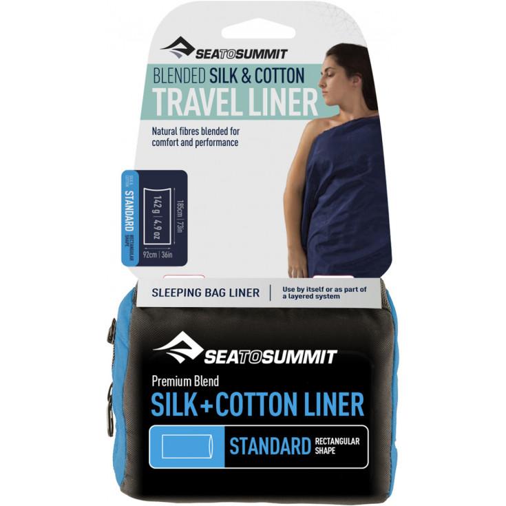 Drap de sac soie-coton SILK+COTTON Standard rectangulaire SeaToSummit