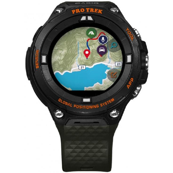 Montre altimètre GPS CASIO WSD-F20-GN KAKI PRO TREK