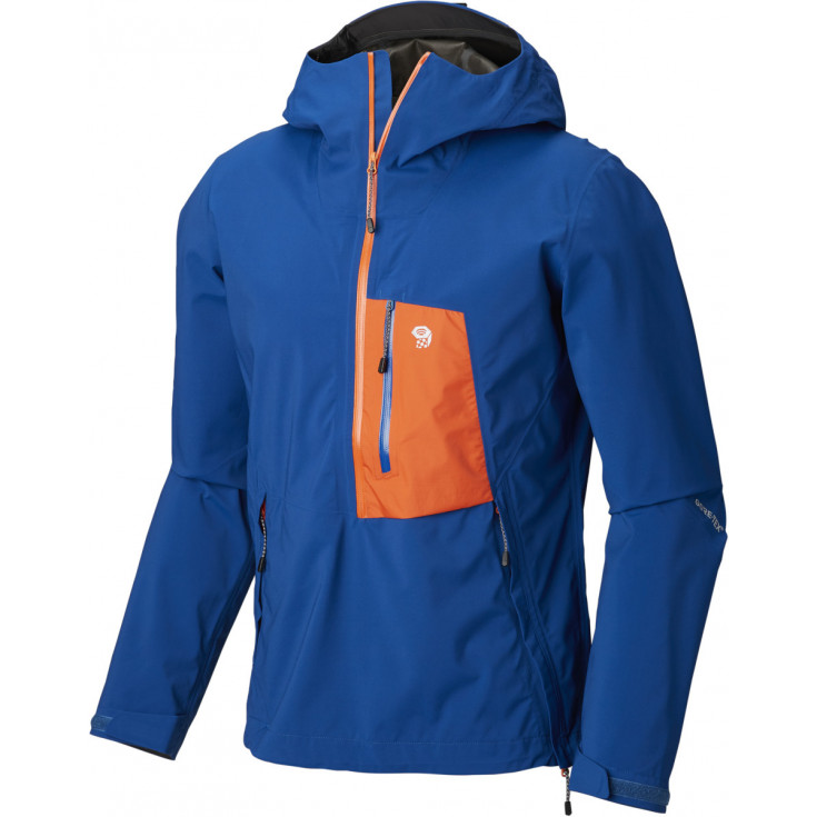 Pullover 1/2 ZIP GORE-TEX PACLITE homme 2.5L Exposure Jacket Nightfall-Blue Mountain Hardwear