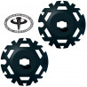 Kit rondelles Push&Pull D95 noir TSL