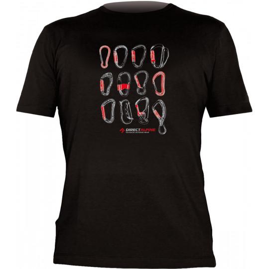Tee-shirt FLASH CARABINERS black DirectAlpine
