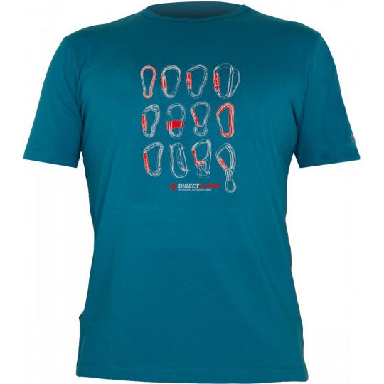 Tee-shirt FLASH CARABINERS petrol-blue DirectAlpine