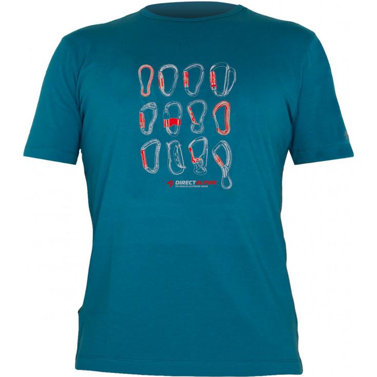 Tee-shirt homme FLASH CARABINERS petrol-blue DirectAlpine