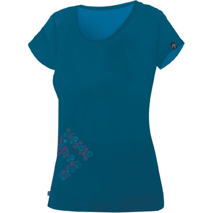 Tee-shirt laine Mérino femme FURRY LADY 1.0 Blue DirectAlpine