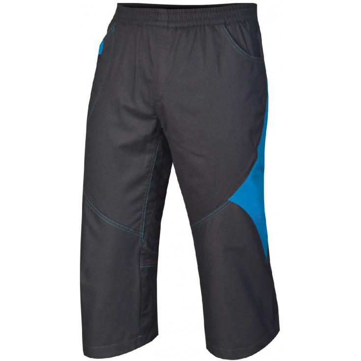 Pantacourt coton stretch homme Joshua 3/4 noir-bleu Directalpine