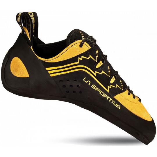 6602f82c9b3f1 Chausson escalade KATANA LACES jaune-noir La Sportiva