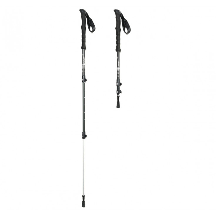 Bâtons de randonnée 3 brins FUJI Powerlock noir-silver Summit Poles