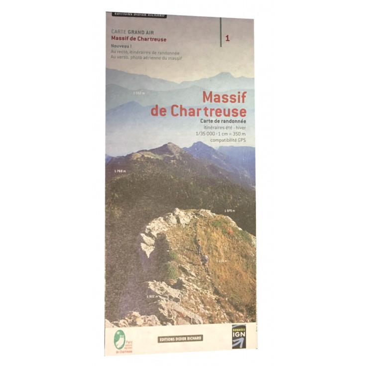 Carte GRAND AIR IGN 1/35000 - MASSIF DE CHARTREUSE - Editions Didier Richard