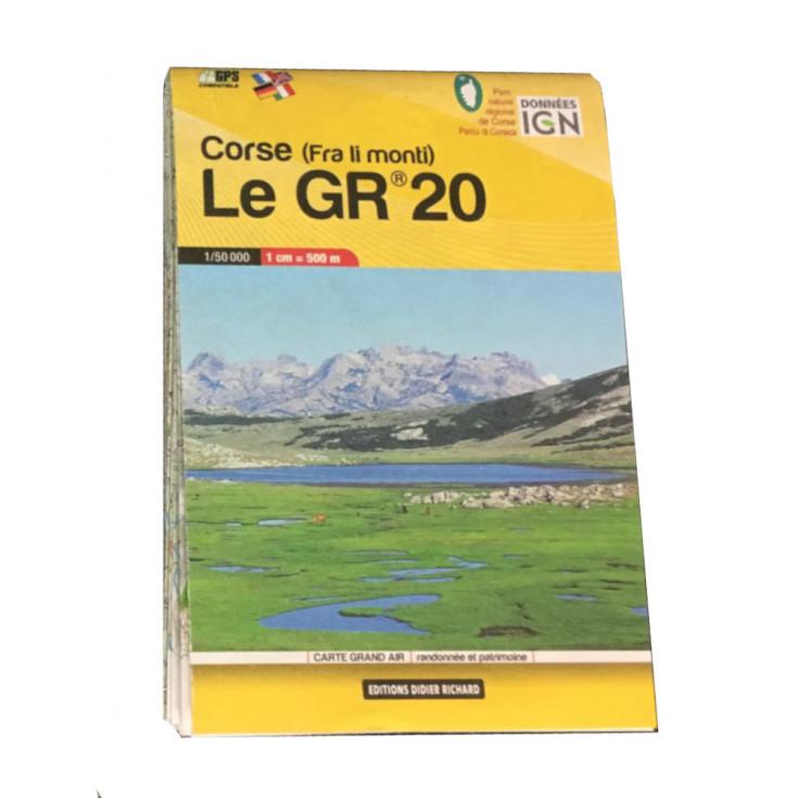 Carte de poche IGN 1/50000 CORSE GR20 - Editions Didier Richard