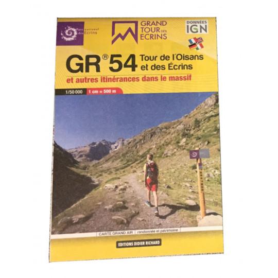 Carte de poche IGN 1/50000 GR54 - Tour de l'Oisans et des Ecrins - Editions Didier Richard