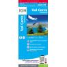 Carte Résistante Plastifiée TOP 25 IGN 3634 OTR VAL CENIS- CHARBONNEL